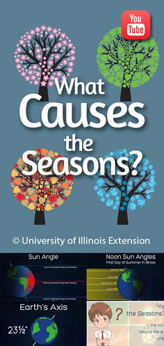 """What Causes the Seasons?"" - Find out with this short, educational YouTube video from University of Illinois Extension #lessons #weather"