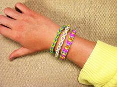 3 tutoriales DIY de cómo hacer pulseras de gomitas elásticas