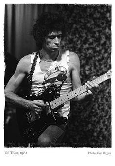 @rollingstones US Tour, 1981. Photo by Ken Regan. Courtesy of keithrichards.com