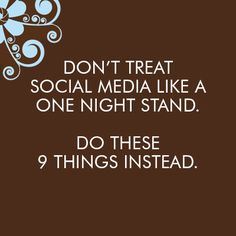 Too many businesses are using social media like a one night stand. Do these 9 things instead. http://www.elizabethhalford.com/the-business-of-photography/dont-treat-social-media-like-a-one-night-stand-do-these-9-things-instead/