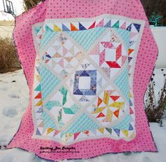 Quilting Bee Sampler Quilt  by Shannon Mower...enjoy this quilting bee sampler as it is a traditional style quilt in modern fabrics...Finished quilt top measures 81 inches square.