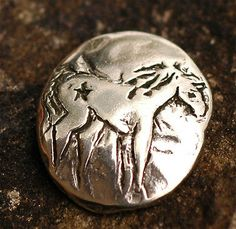 Artisan-My-Little-Pony-Sterling-Silver-Horse-Button