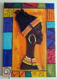 Best Ideas For Black Art Painting Love African Americans Pictures African Theme, African Masks, Black Art Painting, Fabric Painting, African Quilts, Animal Art Projects, African Paintings, African Crafts, Art Africain