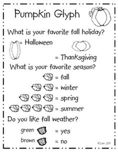 Pumpkin/Fall Glyph - Super Easy for Kinders