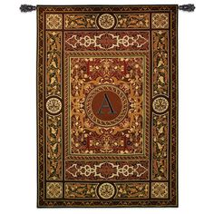 Fine Art Tapestries Monogram Medallion A Wall Tapestry