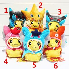 20-25cm Pikachu Cosplay X Charizard Magikarp  Charmander Brinquedo Plush Toys Fashion Stuffed Animals Toy Doll #>=#>=#>=#>=#> Click on the pin to check out discount price, color, size, shipping, etc. Save and like it!
