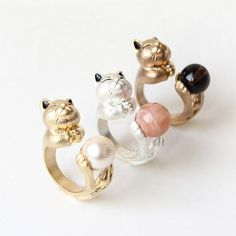 LAONATO trending fashion jewelry animal jewelry wrapped cat ring best gift idea for bridesmaid bestfriends girlfriend Cat Jewelry, Kids Jewelry, Animal Jewelry, Jewelry Sets, Jewelry Design, Women Jewelry, Unique Jewelry, Handmade Jewelry, Fashion Rings