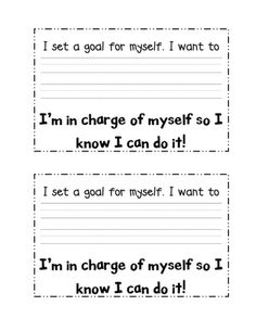 Goal setting with students.
