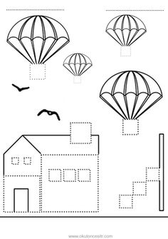 Kare kavramı çalışma sayfası ve uçan balonlar kare geometrik şekiller kavramı çalışmaları etkinliği oyunu örnekleri kağıdı indirme, çıktı yazdırma. Free square worksheets download printable. Letter I Crafts, Flying Balloon, Pre Writing, Activity Games, Geometric Shapes, Worksheets, Crafts For Kids, Balloons, Preschool
