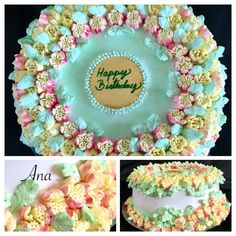Floral cake with Russian tips