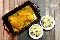 Cette recette de poulet au miel, moutarde et raz-el-hanout régalera les amateurs de sucré/salé. Vous pouvez accompagner votre poulet d'une semoule.