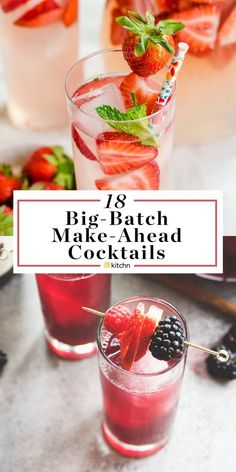 12 Big Batch Make Ahead Alcoholic Pitcher Cocktails. These boozy drinks or beverages are great if you need ideas for parties in the spring summer or fall. Options for vodka rum tequila wine (sangria! Great for crowds. Mezcal Cocktails, Sangria, Spring Cocktails, Summer Drinks, Easy Alcoholic Drinks, Party Drinks Alcohol, Vodka Cocktails, Drinks Alcohol Recipes, Fun Drinks