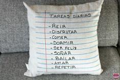 chic & aparejatriz: DIY: cojines con notas