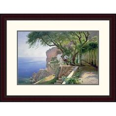 Global Gallery 'Amalfi' by Carl Frederic Aagaard Framed Painting Print Size: