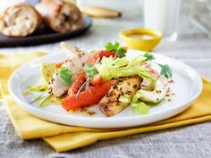 Sun-Roasted Carrot and Chicken Salad