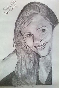 Este é o retrato de minha amiga Elga Arantes. Dei de presente em seu aniversário!