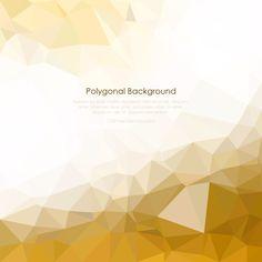 Geometric Polygon Light Gold Background Vector