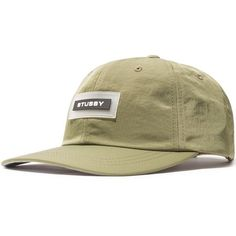 Stussy Nylon Low Pro Cap ($58) ❤ liked on Polyvore featuring accessories, hats, patch cap, stussy beanie, logo cap, beanie caps and logo beanie hats
