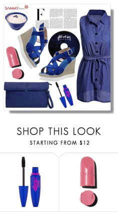 """""""Blue Rapsody"""" by goldenhour ❤ liked on Polyvore featuring Nicki Minaj, Maybelline and Chanel"""