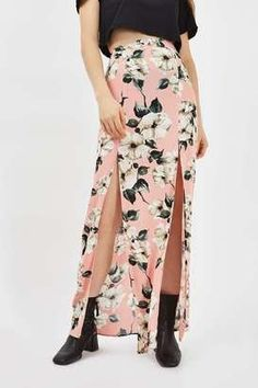 Florals and a double slit.