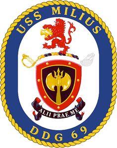 USS Milius (DDG 69) Ship Crest