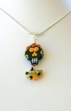 Lampwork+and+Swarovski+Crystal+Bead+Pendant++hand+made++by+Alliaks,+$48.00
