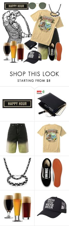 """""""just one of the boys"""" by daincyng ❤ liked on Polyvore featuring J.W. Anderson, Newport Blue, Bling Jewelry, Vans, Libbey, Charlotte Russe, Ray-Ban and happyhour"""