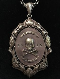Antique Georgian Memento Mori Pendant Sterling Silver with