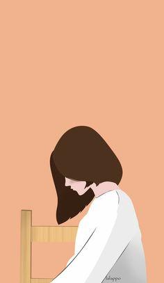 Desenhos Love, Wattpad Book Covers, Digital Art Girl, Girl Wallpaper, Graphic Wallpaper, Cute Cartoon Wallpapers, Aesthetic Art, Art And Illustration, Cartoon Art