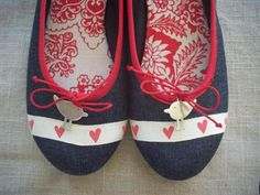 Birds and hearts on pumps - many favourite things in one shoe!