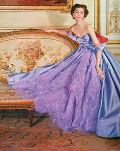 Suzy Parker in Christian Dior, photo by Cecil Beaton, 1955