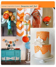Orange and Teal Wedding Colors...FOR ELAINA