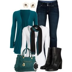 """Fall Teal"" by rpsandha on Polyvore"