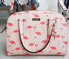 Handbags & Wallets - kate spade flamingo printed small felix w/charm kate spade flamingo printed… - How should we combine handbags and wallets? Flamingo Print, Pink Flamingos, Flamingo Nursery, Flamingo Decor, Kate Spade Handbags, Kate Spade Bag, Purse Styles, Backpack Purse, Beautiful Bags