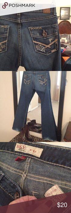 BKE STELLA JEANS 28 BKE Stella jeans embellished pockets size 28 BKE Jeans Boot Cut