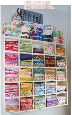 I need a good way to organize/show off my fabric stash.