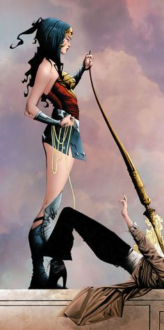 Wonder Woman by Jae Lee; looks like she has Matt Smith's Dr pinned :-)