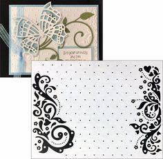 Embossing Folder Celebration - Nellie Snellen embossing folders EFE017 scrolls #NellieSnellen