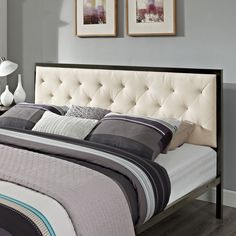 Modway Furniture Modern Mia King Fabric Bed Frame