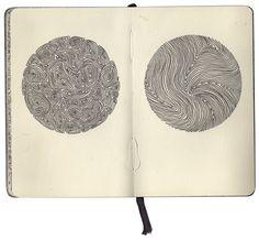 Early Obsessions, Part 2 part 2 of sketchbook exploring obsessive patterns Sketchbook Drawings, Easy Drawings, Art Sketches, Doodle Art Designs, Principles Of Art, Bullet Journal Art, Sketchbook Inspiration, Art Graphique, Pen Art