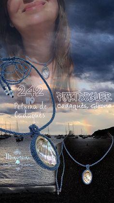 Colgante con Concha, recogida por mi amiga Begoña en Cadaqués, engarzada en micromacramé con hilo encerado de 0,5 mm.   #colgante #micromacrame #macrame #HechoAMano #HiloEncerado #concha  #penjoll #FetAMa #FilEncerat #petxina #necklace #handmade #waxedthread #shell #Linhasita  #portdoguer #cadaqués #girona