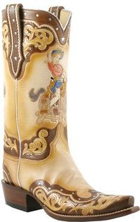 Lucchese Classics - L4687 - Ladies Lucchese Classics with Hobby Horse Pin Up Hand Tooling