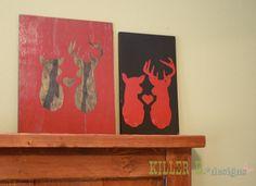 plywood deer wall art   wille wood work