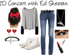 """""""1D Concert with Ed Sheeran"""" by gnarlycarly99 ❤ liked on Polyvore"""