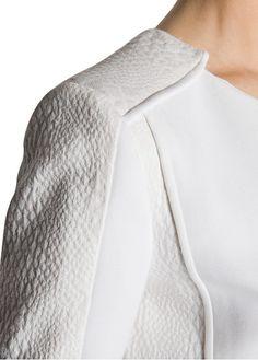 MANGO - Textured panels jacket