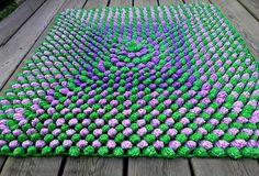 crochet floor rug, plastic bag recyling ideas