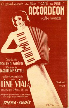 Accordéon, 1938 (ill.: Paul Colin); ref. 3989