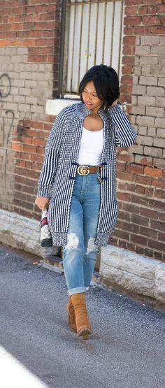 Gap Cardigan, Boyfriend Jeans, H&M, Gucci Belt, Indianapolis Style Blog, Indianapolis Fashion Blog