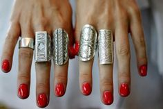 silver and red.