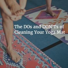 The DOs and DON'Ts of Cleaning Your Yoga Mat. #yogi #yoga #healthy